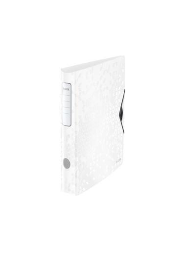 Leitz  WOW Klasör 180° PP Active Dar Metalik Beyaz 11070001 Renkli
